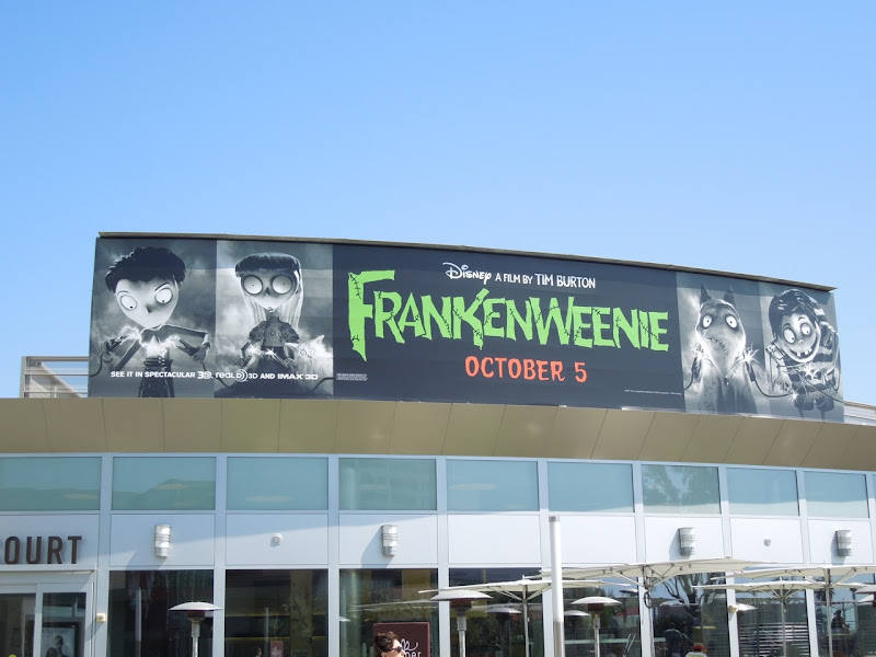 Frankenweenie movie billboard