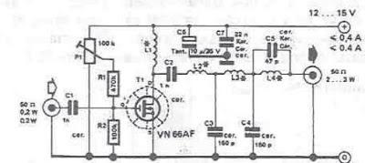 Simple RF Amplifier ~ Electro Circuit diaggram
