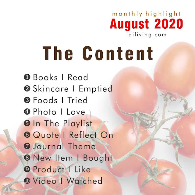 table of content august highlight
