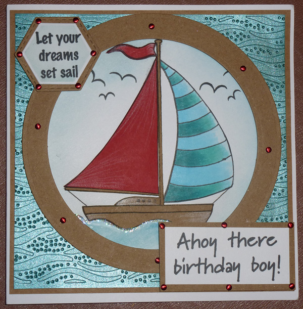 Let your dreams set sail card