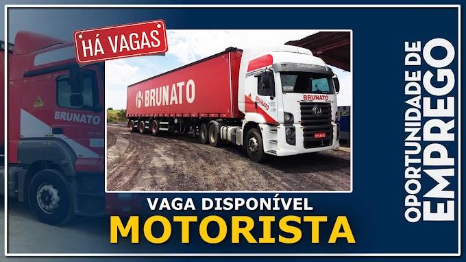 Transportadora Brunato abre novas vagas para motorista carreteiro