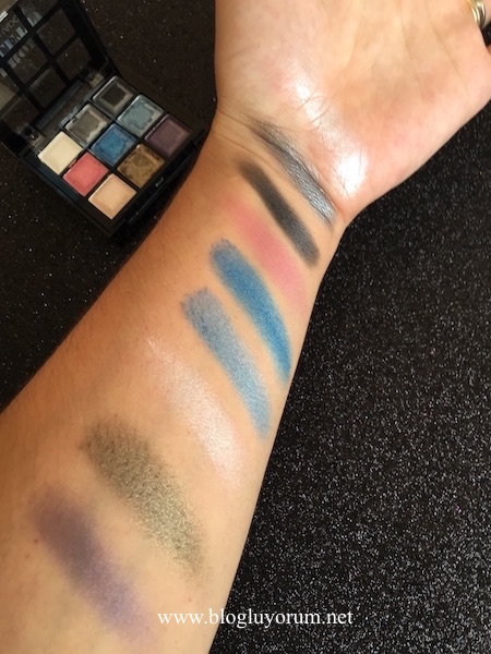 rival de young profi palette eyeshadow disco fever swatch