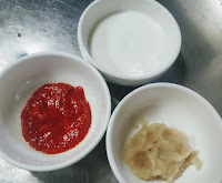Ginger Garlic paste, Chilly Paste and curd for chicken Tikka masala recipe