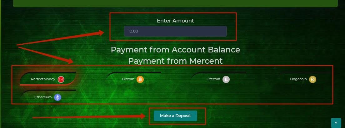 Пополнение баланса в Hotex Crypto 2