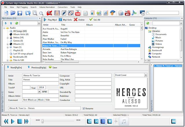 Screenshot Zortam Mp3 Media Studio Pro 26.20 Full Version