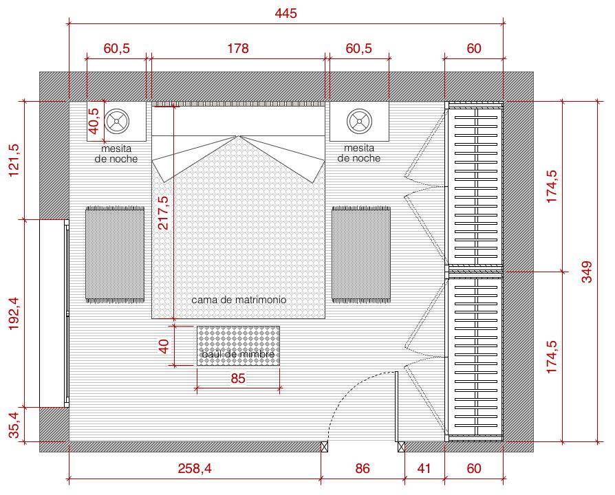 Cómo dibujar el plano a escala de una habitación_5