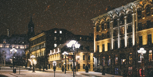 Old Montreal Quebec Christmas