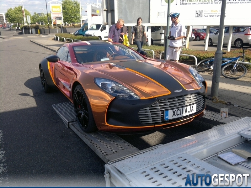 video: white aston martin one-77 in london and a special painted for