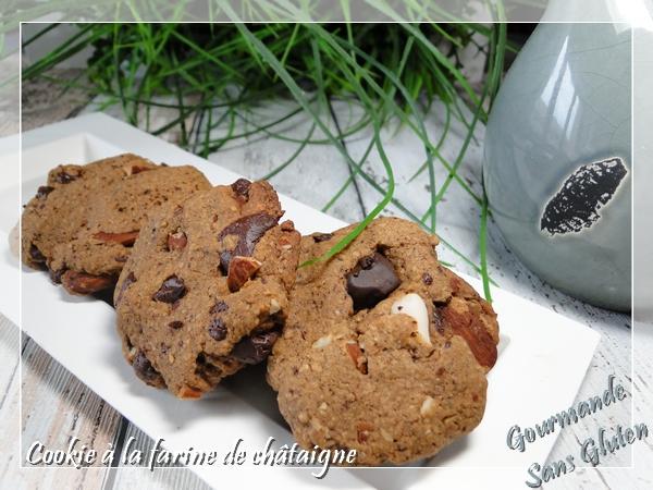 Cookies à la farine de châtaigne, sans gluten