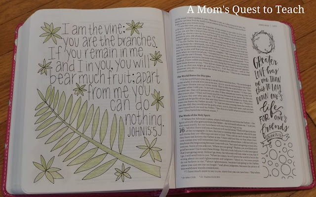 coloring verse from Book of John in Bible