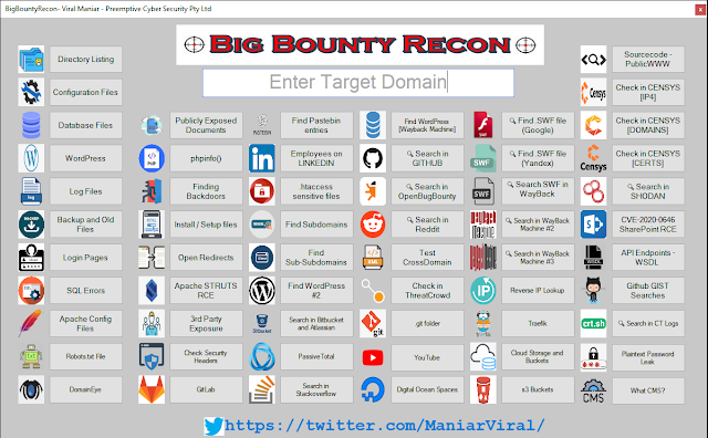 BigBountyRecon – This Tool Utilises 58 Different Techniques To Expediate The Process Of Intial Reconnaissance On The Target Organisation