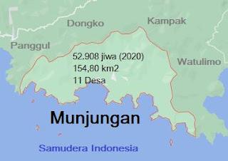 Peta Kecamatan Munjungan