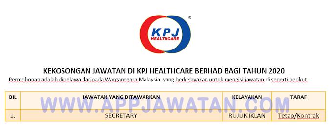 Jawatan Kosong Terkini di KPJ Healthcare Berhad.