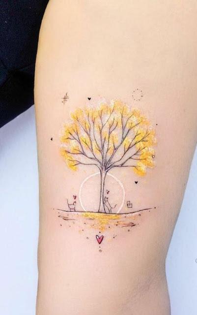 Tatuajes bonitos de arboles que atraen abundancia