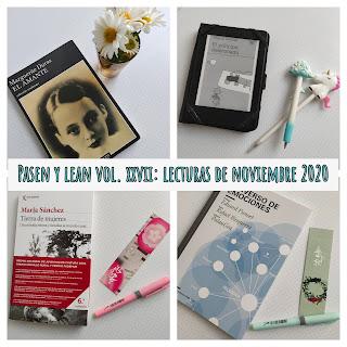 Pasen y lean vol. XXVII: Lecturas de Noviembre 2020