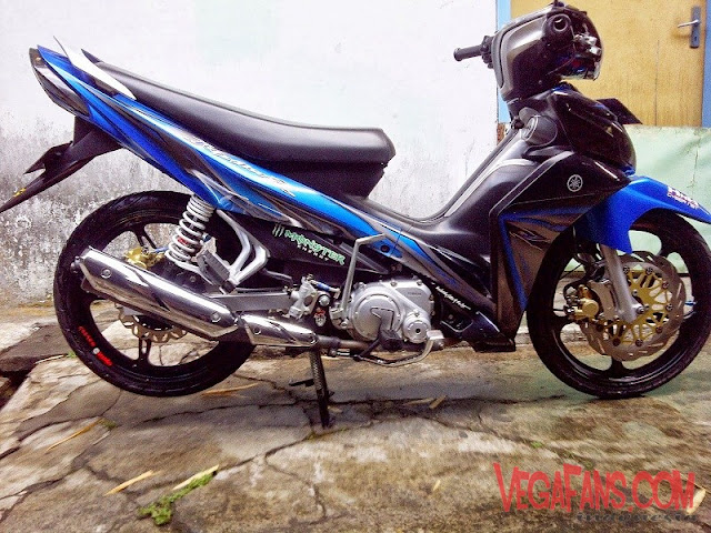 Jupiter Z New Biru Hitam Modif Standar Simple