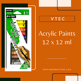 vtec acrylic set 12 x 12 ml