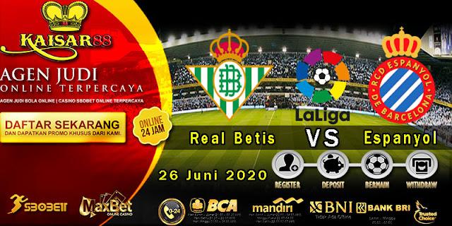 Prediksi Bola Terpercaya Liga Spanyol Real Betis vs Espanyol 26 Juni 2020