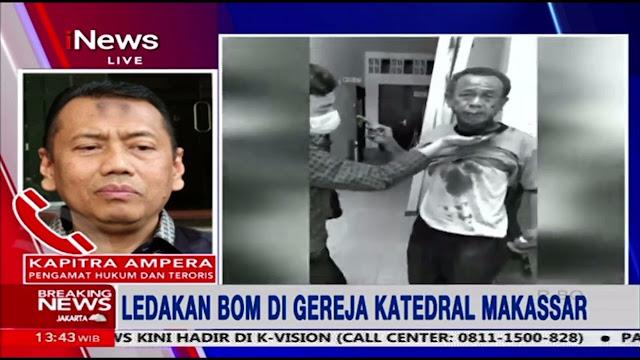 Kapitra Minta Selidiki Kaitan Bom Makassar dengan Sidang HRS: Ada yang Terus-menerus Lakukan Provoksi