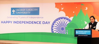 Commemorating 71 years of Independence at Jagran Lakecity University!