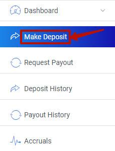 Создание депозита в Aldocentral