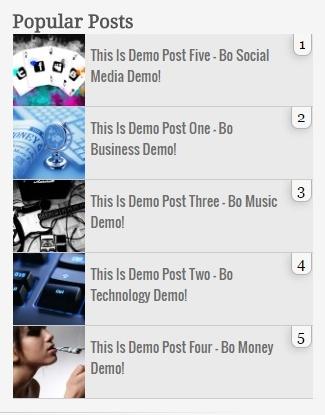 Popular Post Widget Style 3