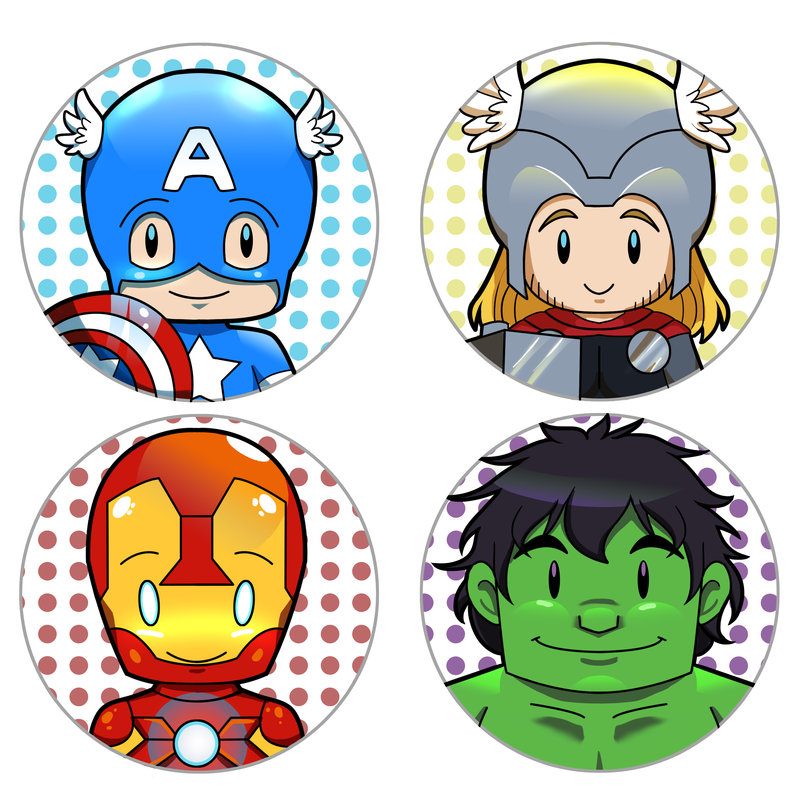 Avenger Babies Free Printable Cupcake Toppers or Labels Oh My