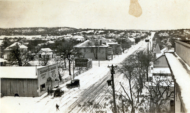 Kerrville Texas 1923 after a snowfall looking north