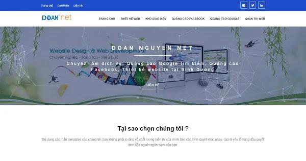 Chia sẻ giao diện blogspot Doan Nguyen Net 2019