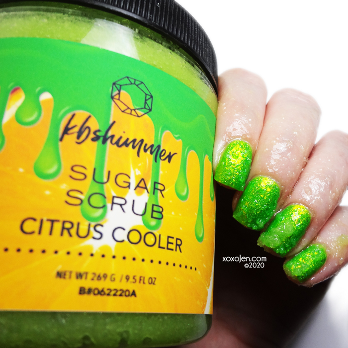 xoxoJen's swatch of KBShimmer Citrus Cooler Scrub