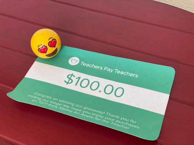 $ 100 Teachers pay Teachers Gift Card Giveaway