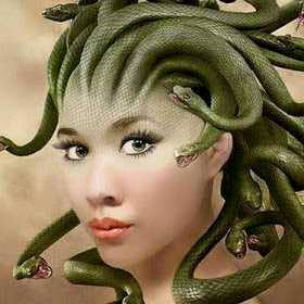 attachment hair turns in to a snake