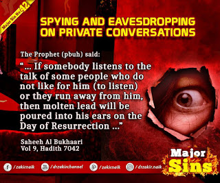 MAJOR SIN. 42. SPYING AND EAVESDROPPING ON PRIVATE CONVERSATIONS