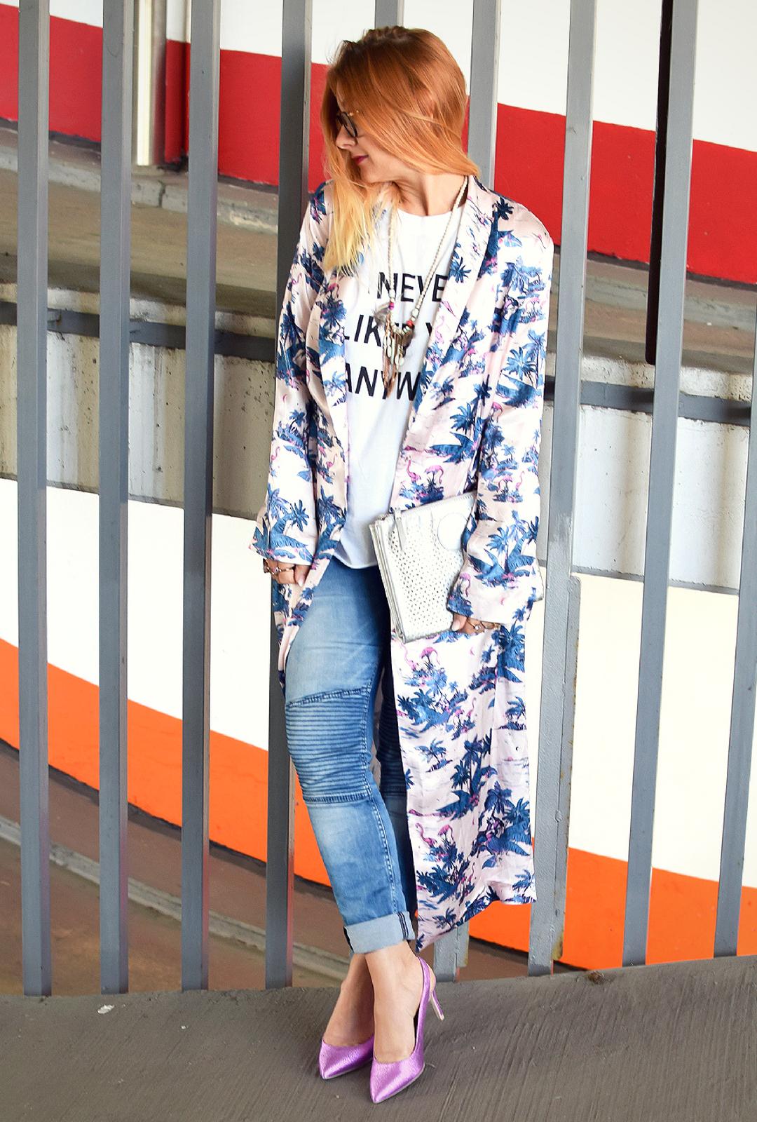Damen Kimono stylen, Stylingtipp für Kimono