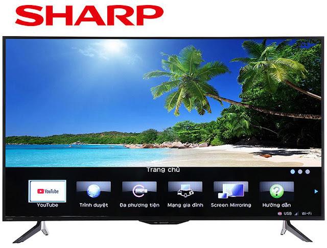 Thay màn hình tivi Sharp 43,49,50,55,65,75 inch giá bao nhiêu
