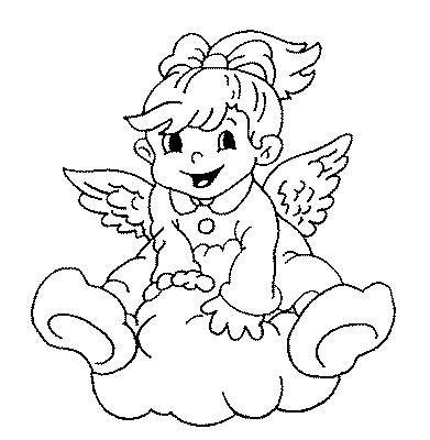 200 figuras imagens moldes e desenhos de anjos colorir - Image a peindre gratuit ...