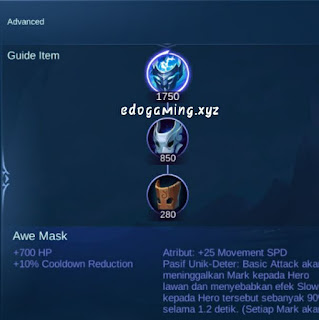 penjelasan lengkap item mobile legends item awemask