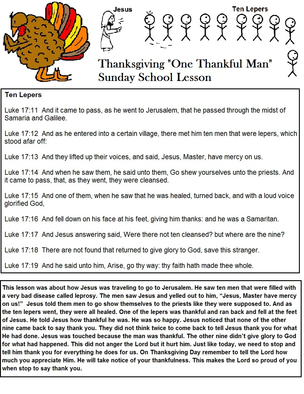 Church House Collection Blog: Thanksgiving Lesson for ...