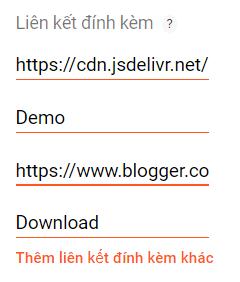 Tạo nút Demo và Download cho blog