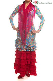 Flamenco Kleid Rosa Linati