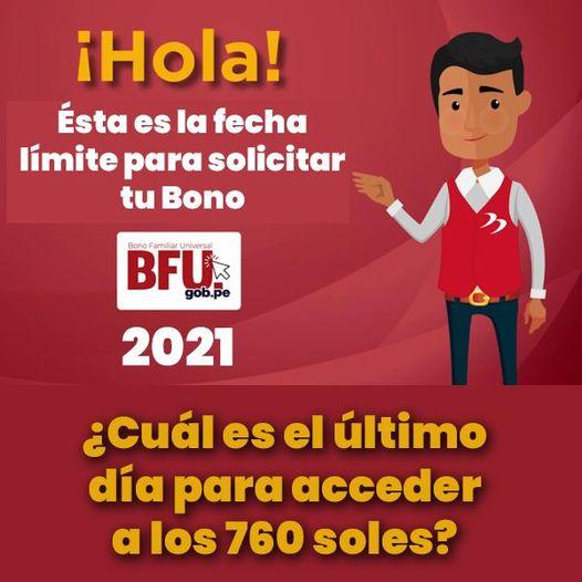 Bono Familiar UNIVERSAL 2021 ¿Cuál Es El Último Día Para COBRAR Los 760 SOLES?