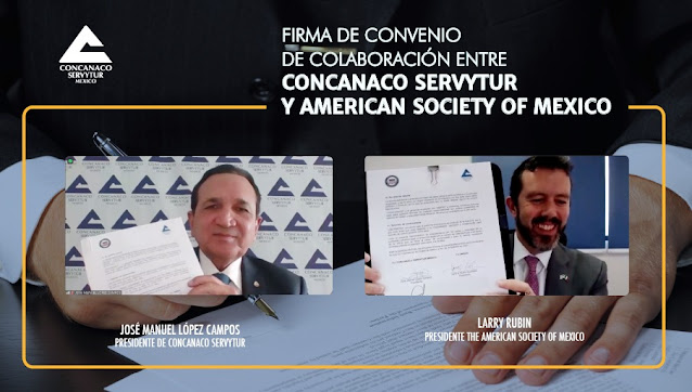Concanaco Servytur y la American Society of Mexico  promoverán el comercio binacional entre México y Estados Unidos
