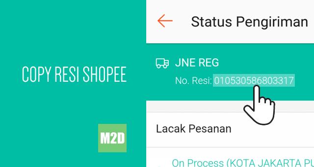 kita tidak dapat menyalin nomor resi dari aplikasi Shopee Android 3 Cara Copy Nomor Resi dari Aplikasi Shopee Android