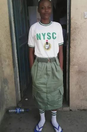 female corper wearing trouser is a sin