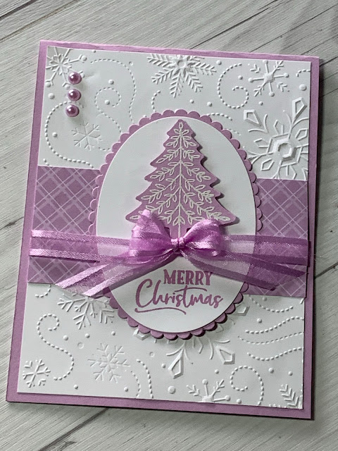 Handmade Christmas card using Stampin' Up! Perfectly Plaid Stamp Set