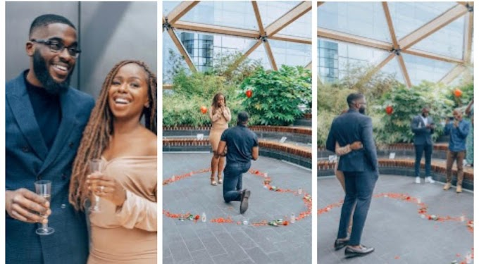 VIRAL NEWS Lady energized after her closest male friend  proposed to her (Photos)