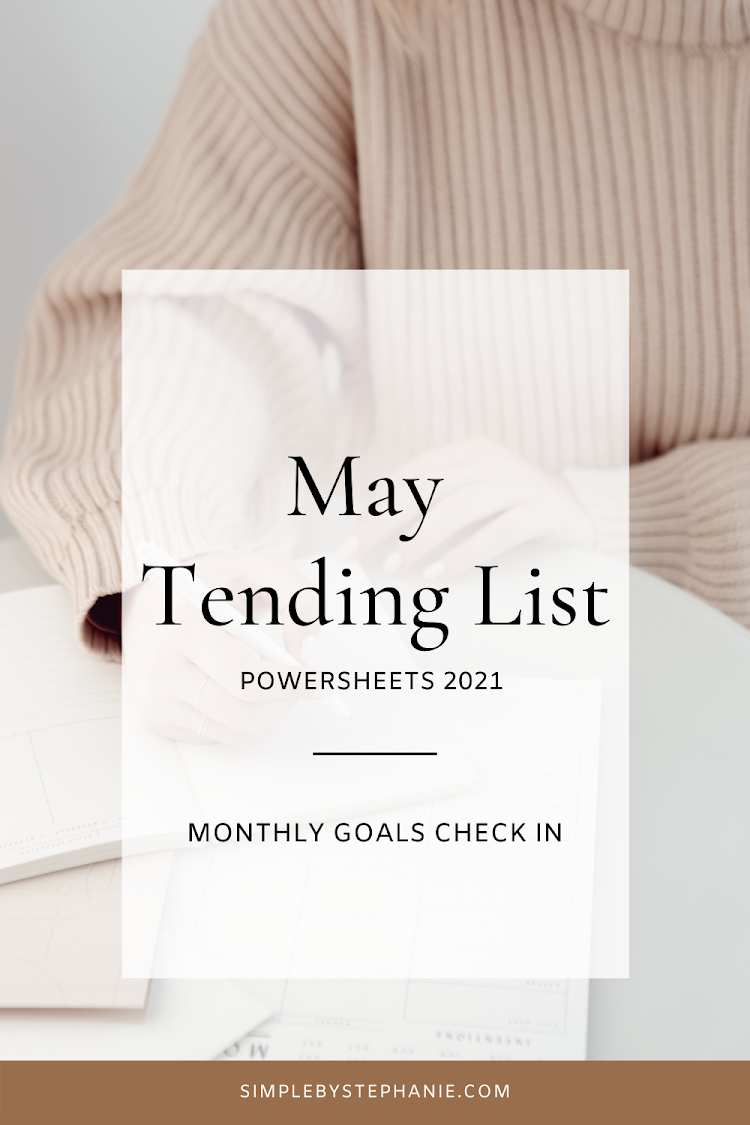 May PowerSheets (Goals Check In)