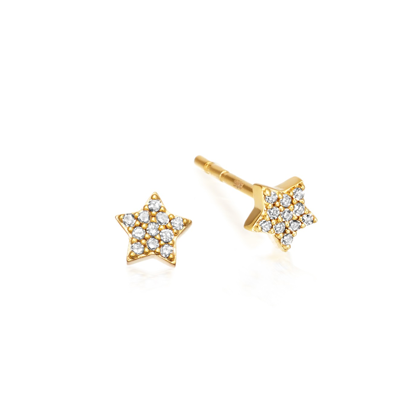 Astley Clarke Tiny Star Stud Earrings - British luxury jewellery - UK style blog