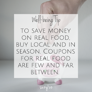 well-being tip: real food coupons