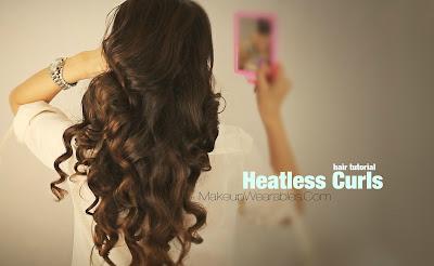 kim kardashian hairstyles how to no heat curls hair tutorial video